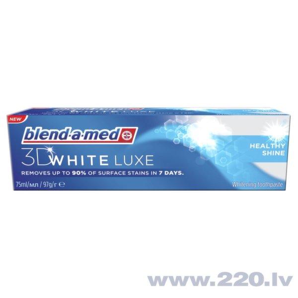 Zobu pasta Blend A Med 3DW Luxe Healthy Shine, 75 ml cena un informācija | Mutes dobuma higiēna | 220.lv