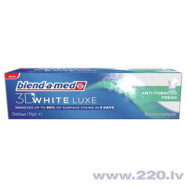Zobu pasta Blend A Med 3DW Luxe Anti-Tobacco, 75 ml cena un informācija | Mutes dobuma higiēna | 220.lv