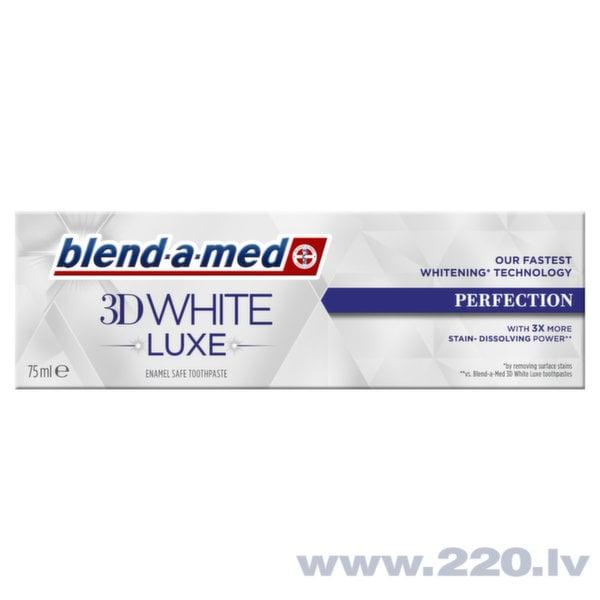 Zobu pasta Blend A Med 3DW Luxe Perfection, 75ml cena un informācija | Mutes dobuma higiēna | 220.lv