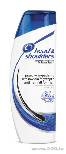 Šampūns Head&Shoulders for Him Anti Hairfall, 400 ml cena un informācija | Šampūni | 220.lv