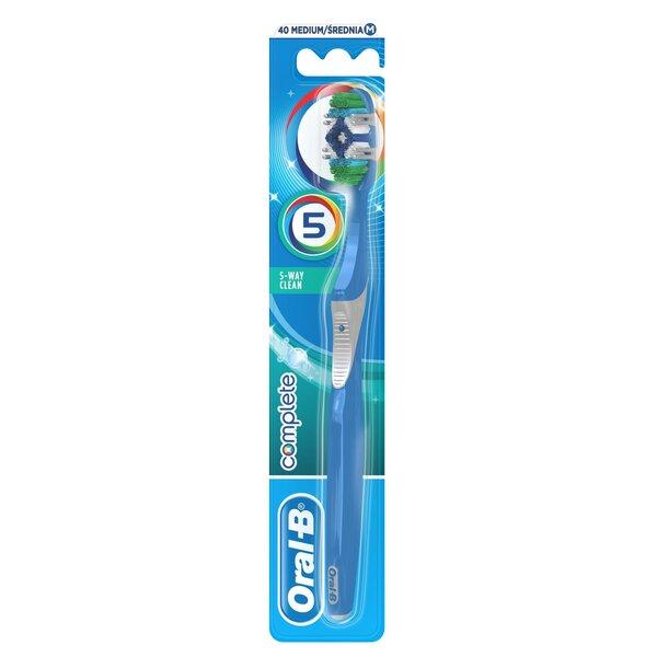 Zobu birste Oral-B Complete 5 Ways Clean 40 Medium cena un informācija | Mutes dobuma higiēna | 220.lv