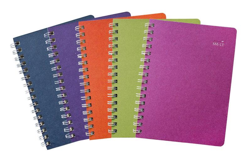 Krāsaina klade ar spirāli A5, 75 lapas cena un informācija | Kancelejas preces | 220.lv