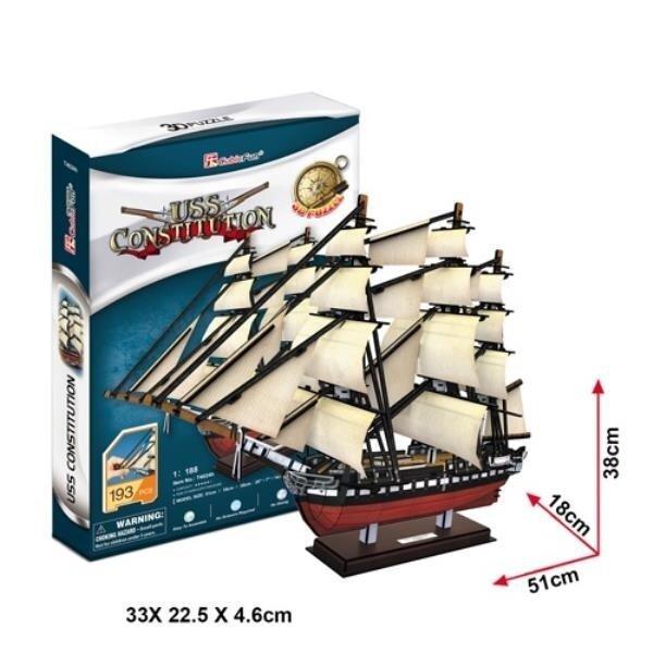 "3D Пазл CubicFun лодка""Constitution"", 193 шт."