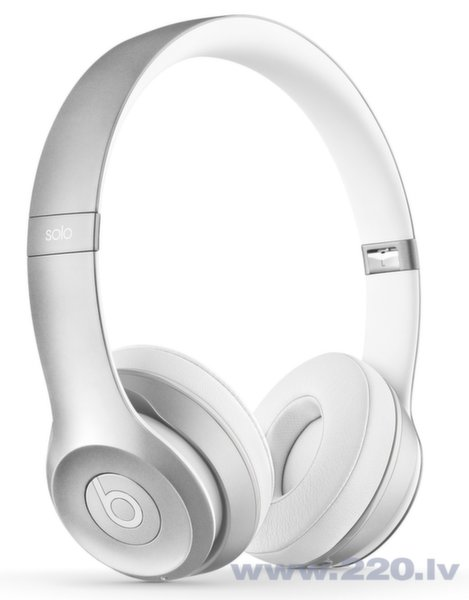 Beats By Dre Solo 2 Wireless On-Ear Silver ar mikrofonu