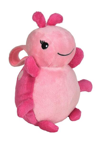 Mīksta muzikāla rotaļlieta Cloud B Lullaby To Go™ - Ladybug Pink 37417 cena un informācija | Rotaļlietas zīdaiņiem | 220.lv