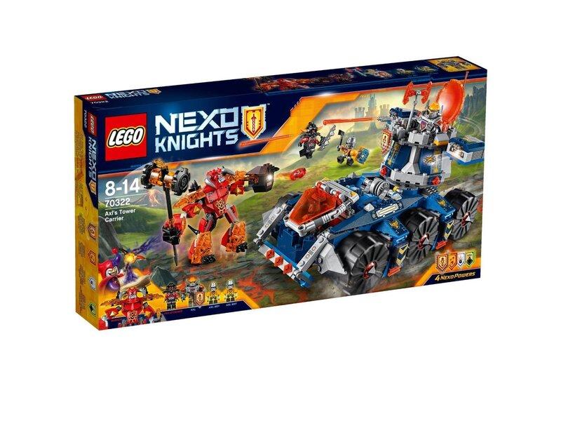 Konstruktors Lego Nexo Knights Axl's Tower Carrier 70322 cena un informācija | LEGO | 220.lv