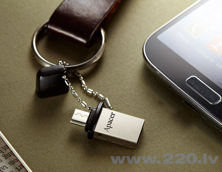 USB zibatmiņa APACER USB2.0 Mobile Flash Drive AH175 16GB, Melna