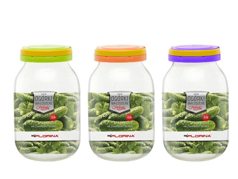 Stikla burka gurķiem, 3 l cena un informācija | Trauki pārtikas uzglabāšanai un konservēšanai | 220.lv