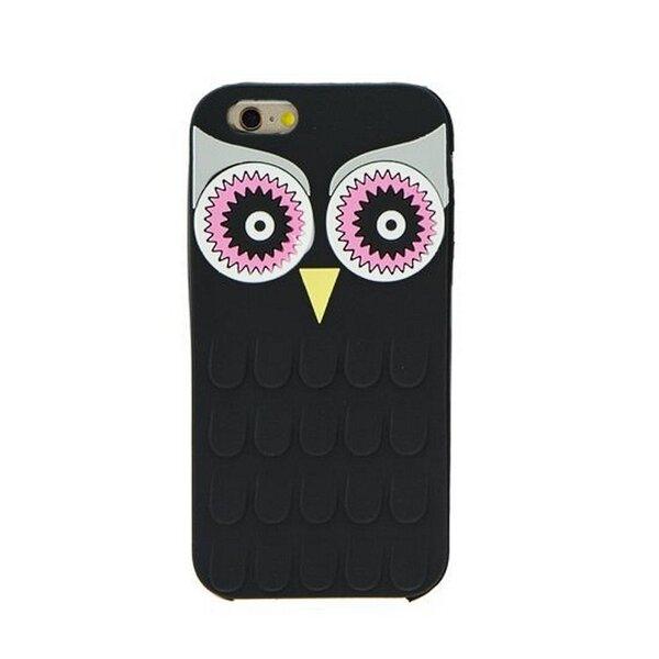 Zooky Силиконовый 3D чехол для мобильного телефона LG K10 K430, Сова Чёрный