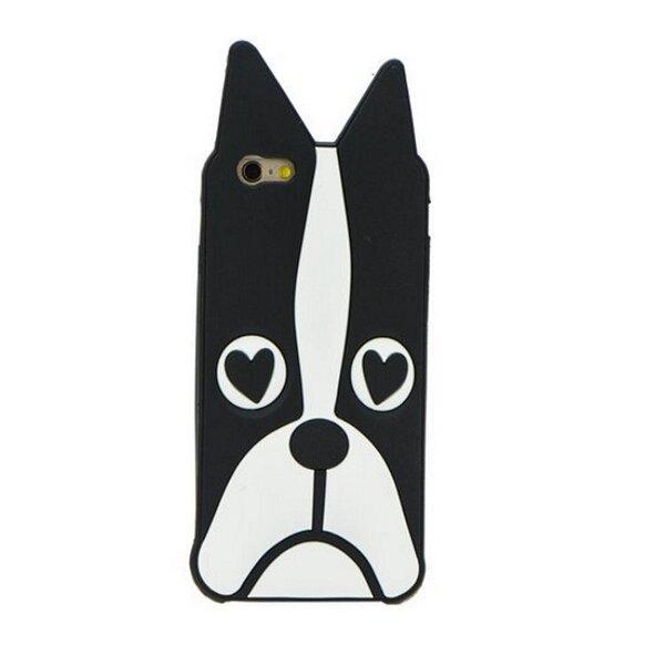 Zooky Silikona 3D telefona apvalks Samsung G920 Galaxy S6 Melns Buldogs cena un informācija | Maciņi, somiņas | 220.lv
