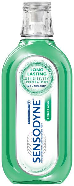 Mutes skalošanas līdzeklis Sensodyne Extra Fresh 500 ml cena un informācija | Mutes dobuma higiēna | 220.lv
