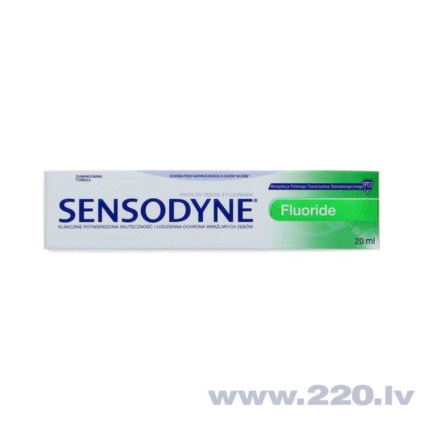 Zobu pasta Sensodyne Fluoride 20 ml cena un informācija | Mutes dobuma higiēna | 220.lv