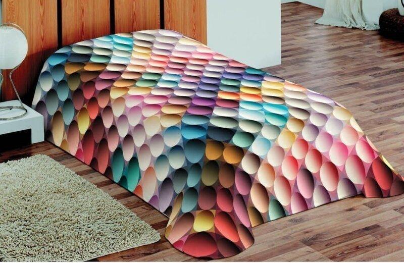 Покрывало 3D, 155x220 см цена и информация | Dekoratīvie gultas pārklāji un pledi | 220.lv