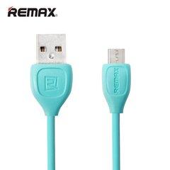 Remax LESU Izturīgs un fleksibls Universāls Micro USB uz USB Datu un uzlādes Kabelis 1m Zils