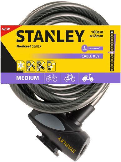 Velosipēda slēdzene STANLEY, S755-202 cena un informācija | Velosipēda piederumi | 220.lv