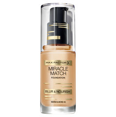 Тональный крем Max Factor Miracle Match, 30 ml цена и информация | Пудры, бронзаторы, румяна | 220.lv