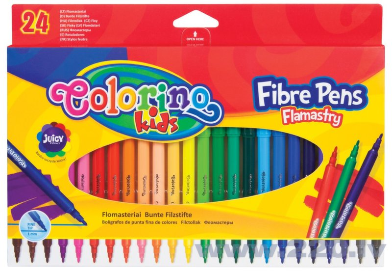 Flomāsteri COLORINO KIDS, 24 krāsas cena un informācija | Kancelejas preces | 220.lv