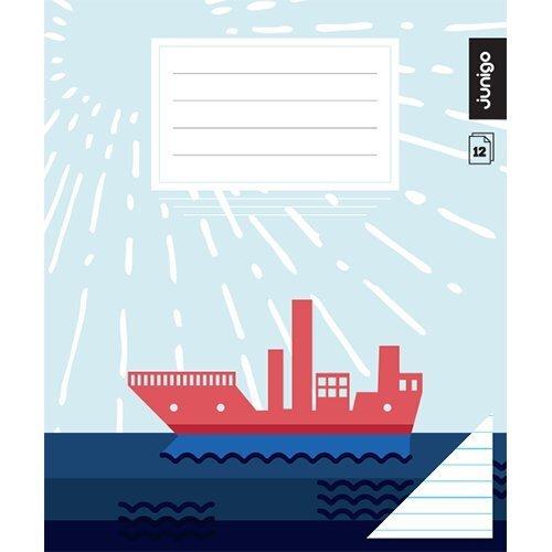 Burtnīca Junigo Super, 12 lapas, 1. klasei, līniju cena un informācija | Kancelejas preces | 220.lv