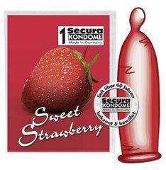 Prezervatīvi Sweet Strawbery, 1 gab.