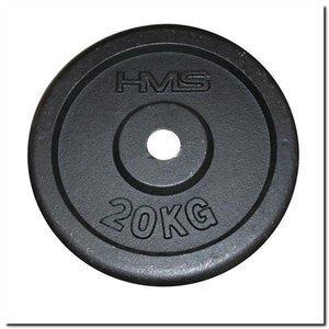 Čuguna svara disks HMS, 20 kg cena un informācija | Hanteles, svaru stieņi un diski | 220.lv