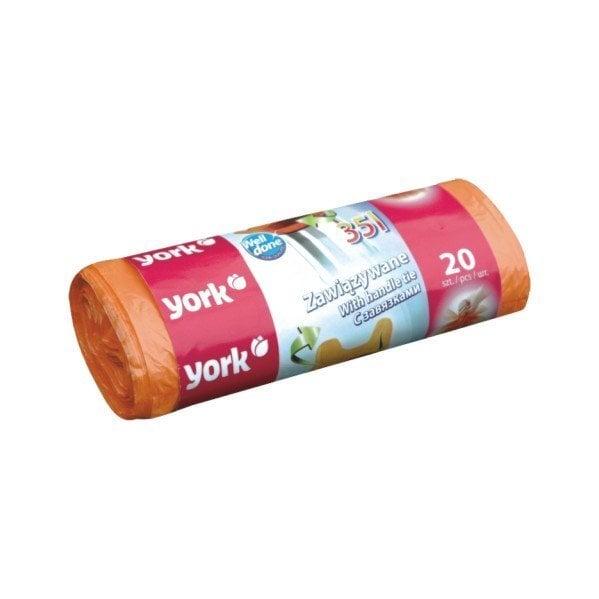 YORK atkritumu maisi, 35 L, 20 gab. cena un informācija | Miskastes maisi | 220.lv