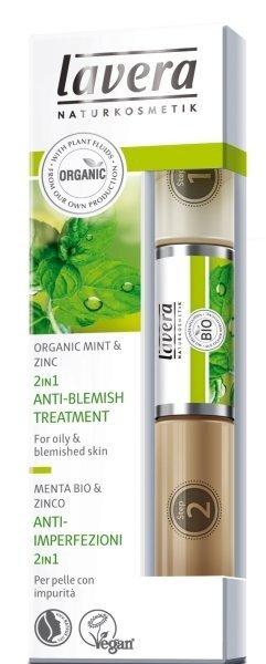 2 vienā līdzeklis pret akni Lavera Mint 10.5 ml cena un informācija | Sejas ādas kopšana | 220.lv