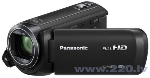 Panasonic HC-V380, Черный