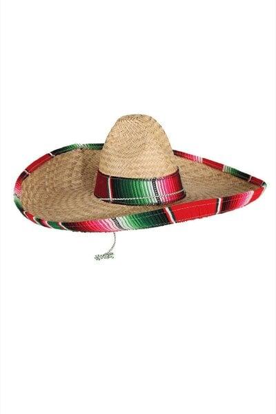 Meksikāņu sombrero cena un informācija | Karnevāla kostīmi, maskas un parūkas | 220.lv