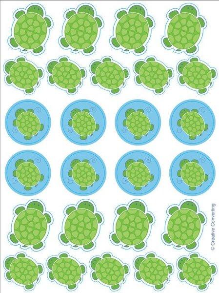 Uzlīmes Bruņurupucis cena un informācija | Svētku dekorācijas un vienreizlietojamie trauki | 220.lv