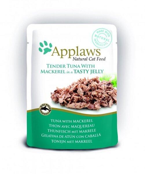 Konservi Applaws ar tunci un skumbriju (želejā), 70 g cena un informācija | Konservi kaķiem | 220.lv