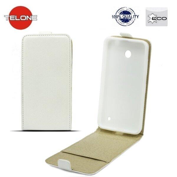 Telone Shine Pocket Slim Flip Samsung J500F Galaxy J5 (J500F) вертикальная книжка-чехол в силиконовом корпусе, белый цена и информация | Maciņi, somiņas | 220.lv