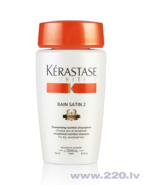 Šampūns Kerastase Nutritive Bain Satin 2 Irisome 250 ml cena un informācija | Šampūni | 220.lv
