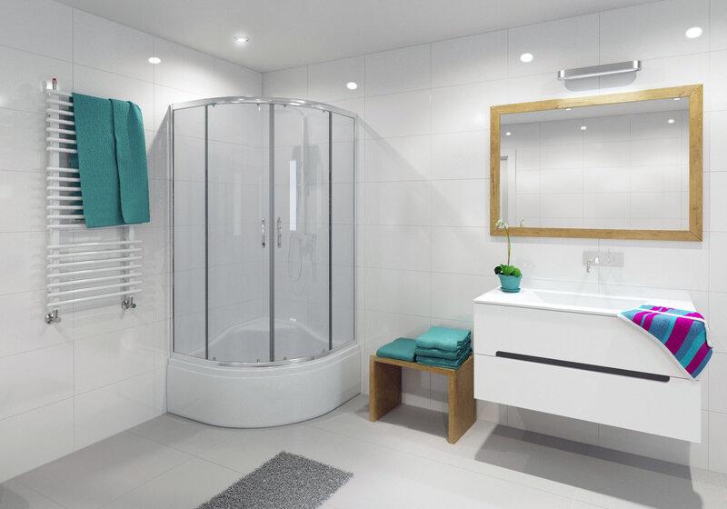 Dušas kabīne Durasan Parma Clear WK 90 cena un informācija | Stūra dušas kabīnes | 220.lv