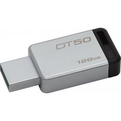 Kingston 128GB USB3.0 DataTraveler50 Metal/Black