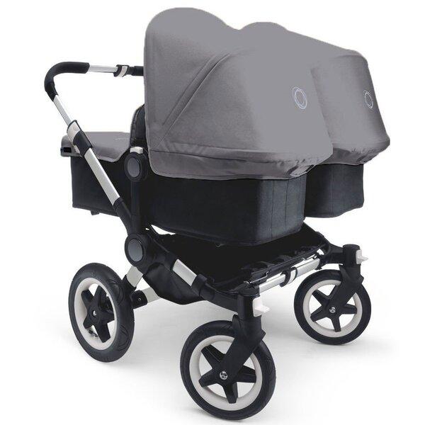 Детская коляска для близнецов Bugaboo Dunkey twin, серая цена и информация | Bērnu rati | 220.lv