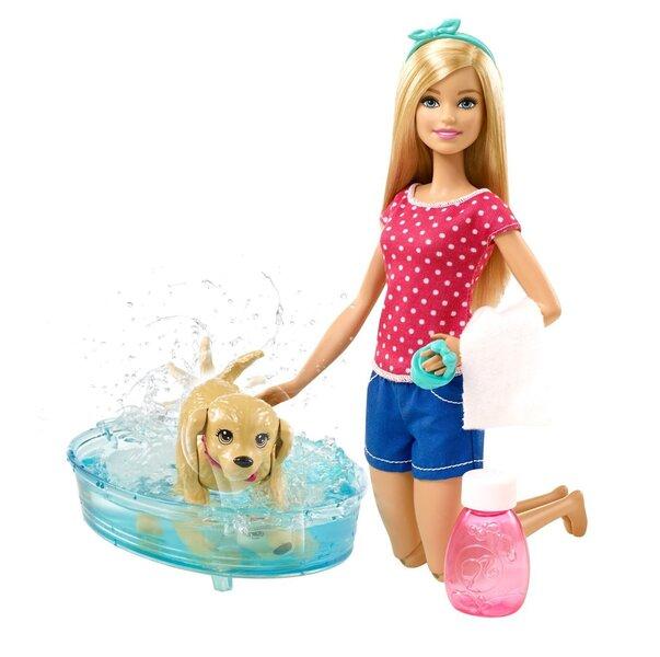 Bārbija un viņas peldošais suns, komplekts, DGY83 cena un informācija | Lelles | 220.lv