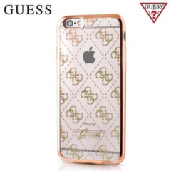 Silikona maciņš GUESS GUHCP6TR4GG 4G Design Silicone Ultra Thin Back Case Apple iPhone 6 / 6S 4.7inch Gold (zelts)