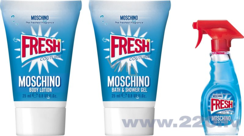 Комплект Moschino Fresh Couture: edt 5 мл +  гель для душа 25 мл + лосьон для тела 25 мл цена и информация | Sieviešu smaržas | 220.lv