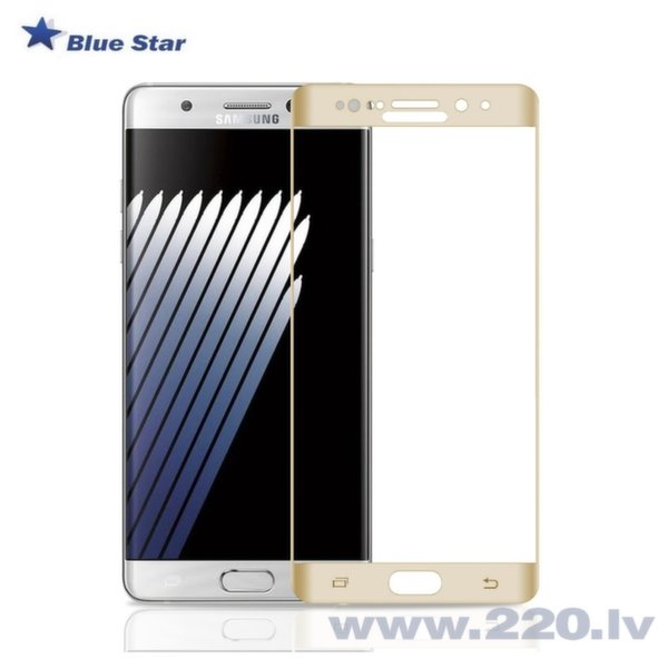 BS Tempered Glass 9H Extra Shock Aizsargplēve-stikls Samsung N930F Galaxy Note 7 Full Face (EU Blister), zeltaina