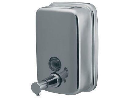 Šķidro ziepju dozators Bisk Chrom, 500 ml cena un informācija | Vannas istabas aksesuāri | 220.lv