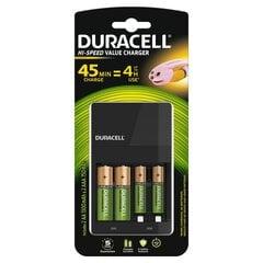 Lādētājs Duracell CEF14 (45 minūšu laika) +2AA +2AAA cena un informācija | Lādētājs Duracell CEF14 (45 minūšu laika) +2AA +2AAA | 220.lv
