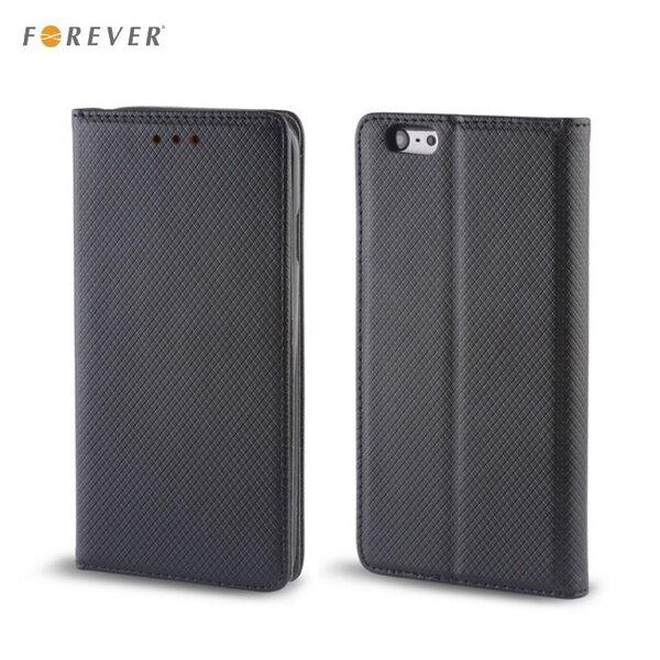 Forever чехол-книжка с магнитной фиксацией, без клипсы Samsung J120F Galaxy J1, черный цена и информация | Maciņi, somiņas | 220.lv