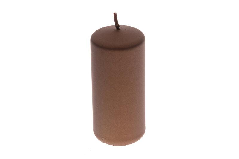 Cilindriska svece Metallic, 6x13 cm cena un informācija | Sveces un svečturi | 220.lv