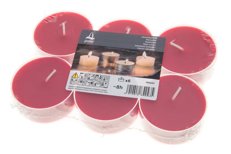 Tējas sveces, 6 gab. cena un informācija | Sveces un svečturi | 220.lv