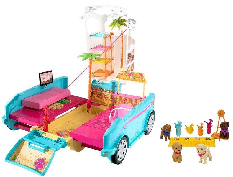 Barbie leļļu autofurgons DLY33 cena un informācija | Lelles | 220.lv