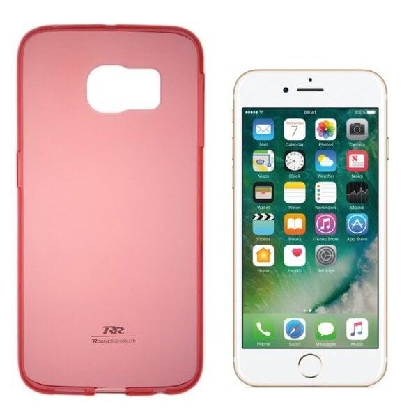 Roar Super Plāns 0.3 mm Premium Kvalitātes Aizmugures Apvalks Apple iPhone 7 4.7 collas Caurspīdīgi Sarkans (EU Blister) cena un informācija | Maciņi, somiņas | 220.lv