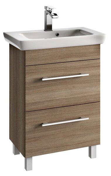 Vannas istabas skapis ar izlietni 6502 D65 cena un informācija | Vannas istabas mēbeles | 220.lv