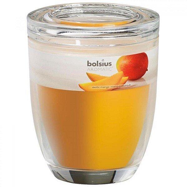 Aromātiska svece Exotic Mango, 12x10 cm cena un informācija | Sveces un svečturi | 220.lv