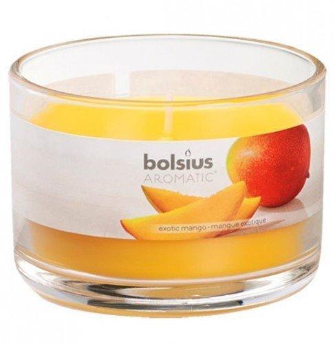 Aromātiska svece Exotic Mango, 6,3x9 cm cena un informācija | Sveces un svečturi | 220.lv