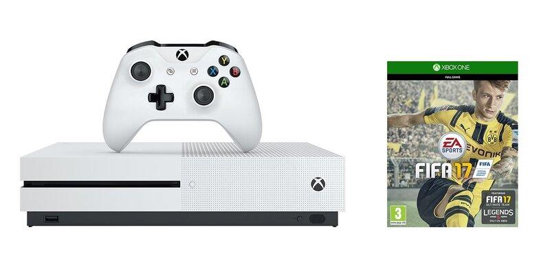 Microsoft Xbox One S 1TB + Fifa 17 + 6M Live cena un informācija | Spēļu konsoles | 220.lv
